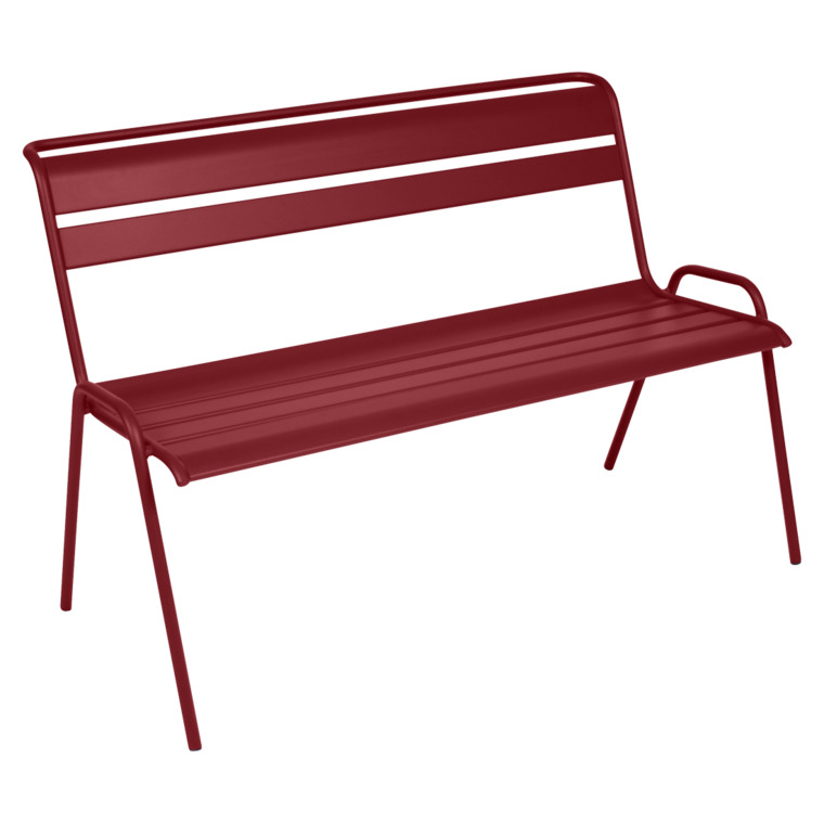Monceau bench, outdoor furniture of steel