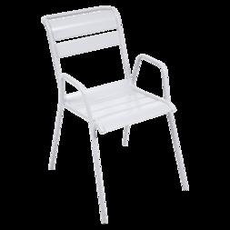 chaise metal, chaise de jardin, chaise blanche