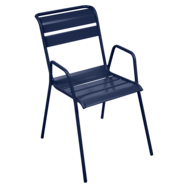 chaise metal, chaise de jardin, chaise bleu