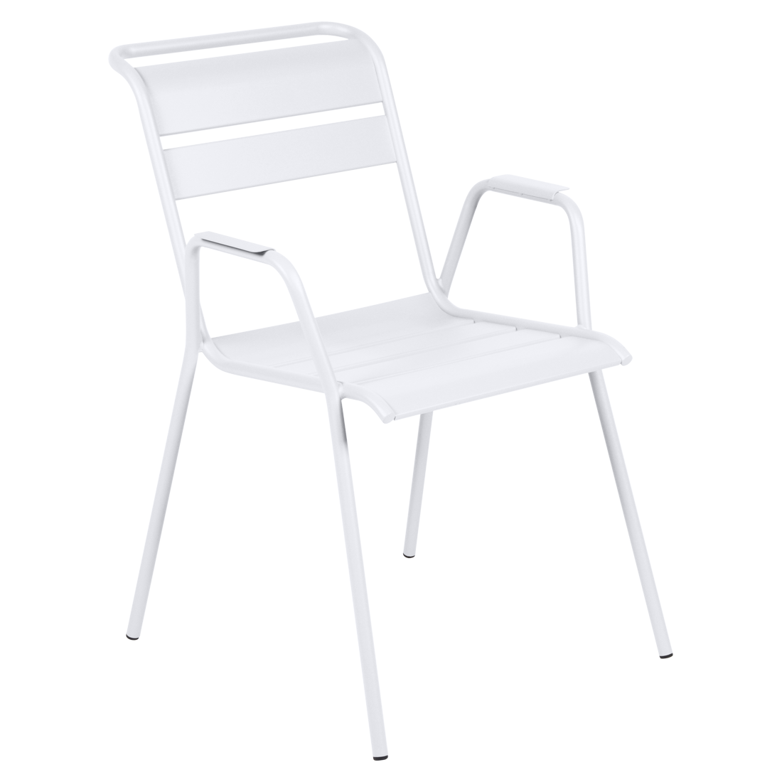 chaise metal, chaise fermob, chaise monceau, fauteuil repas metal, chaise blanche