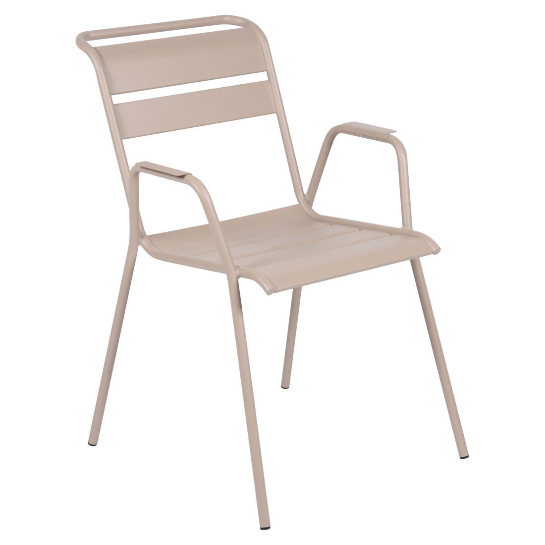 chaise metal, chaise fermob, chaise monceau, fauteuil repas metal, chaise beige