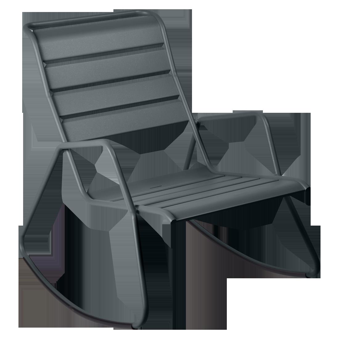 rocking chair metal, rocking chair fermob, rocking chair jardin, rocking chair gris