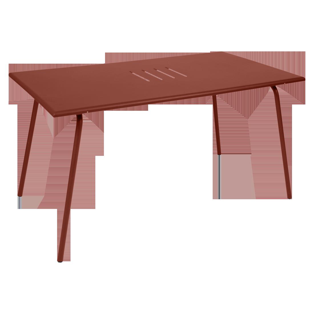Table 146 x 80 cm monceau ocre rouge