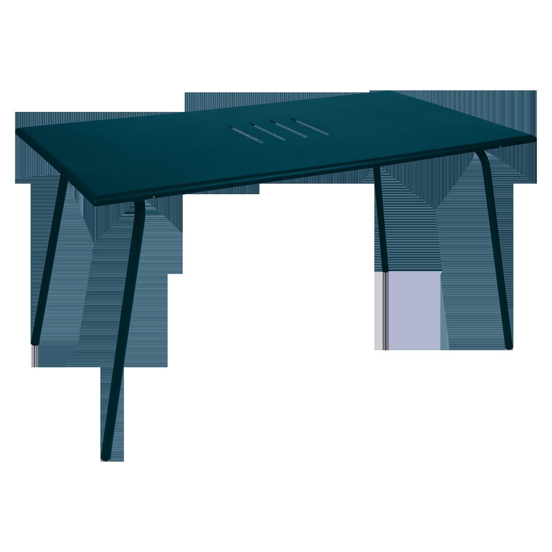 Table 146 x 80 cm monceau bleu acapulco