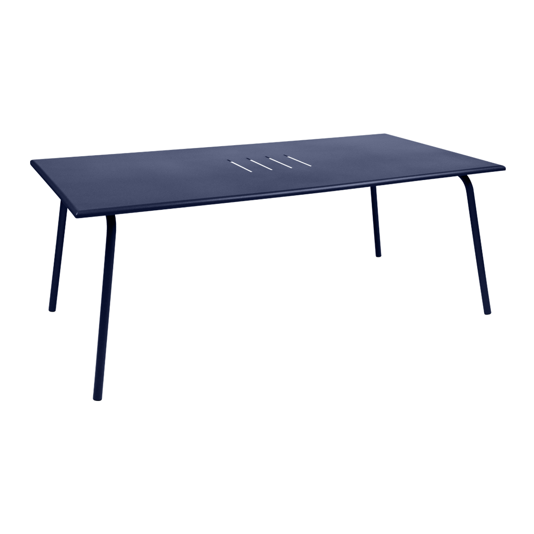 table de jardin, table metal, table rectangulaire, table 8 personnes, table bleu