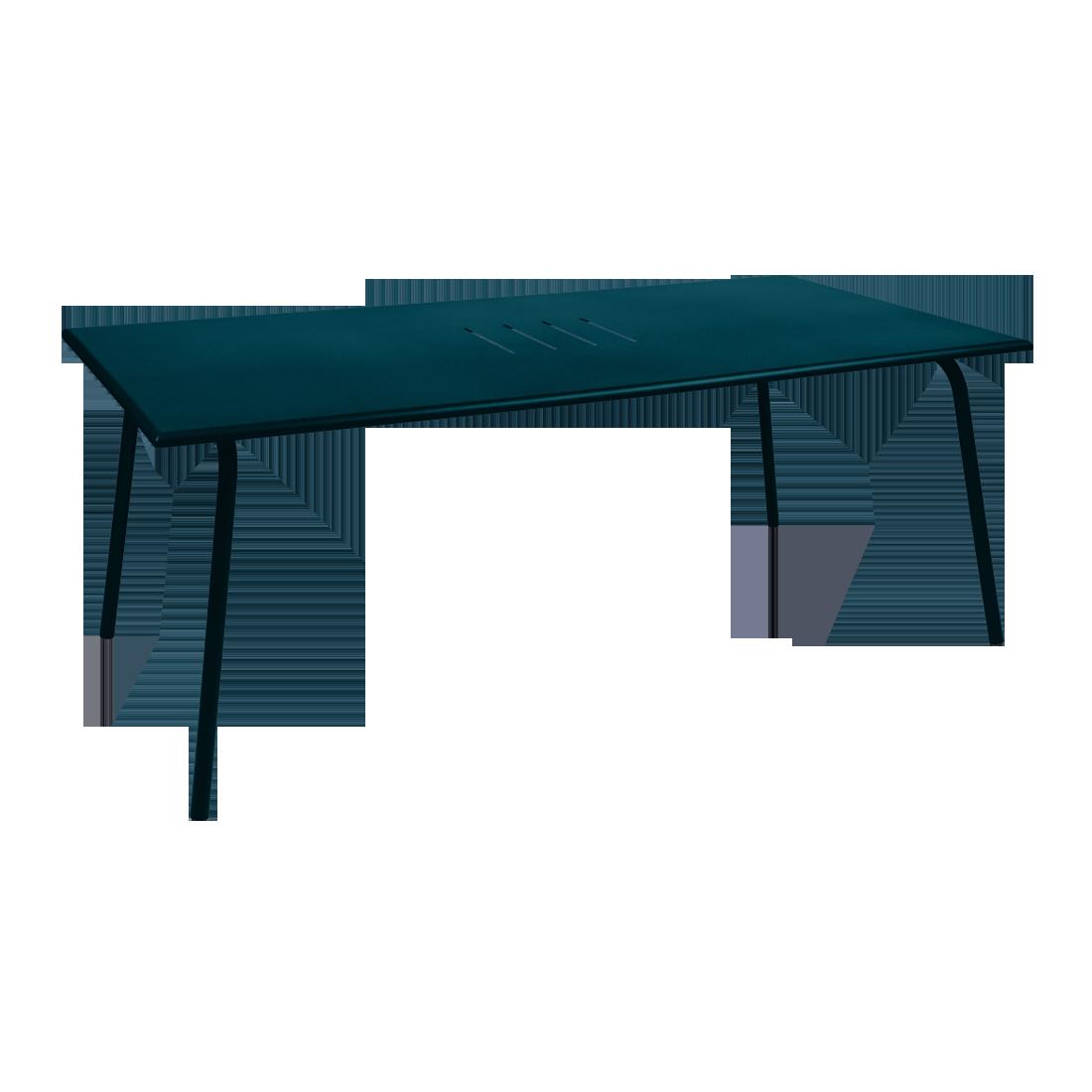 Table 194 x 94 cm monceau bleu acapulco