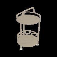 gueridon metal, bar portatif, gueridon fermob, gueridon beige