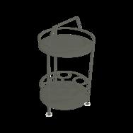gueridon metal, bar portatif, gueridon fermob, gueridon vert