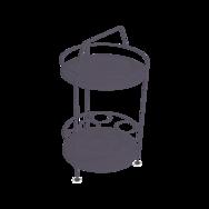 gueridon metal, bar portatif, gueridon fermob, gueridon violet