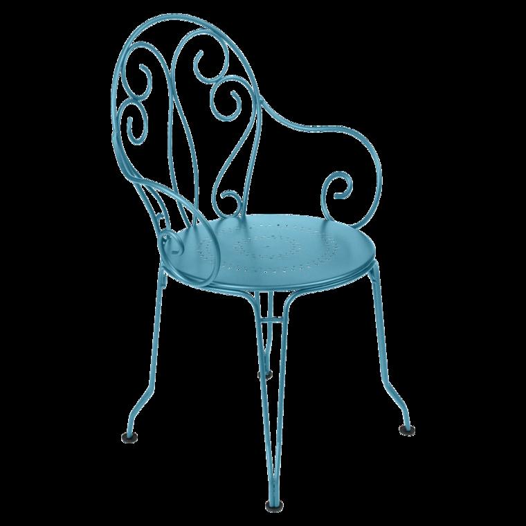 Montmartre armchair outdoor furniture - Fauteuil bleu turquoise ...
