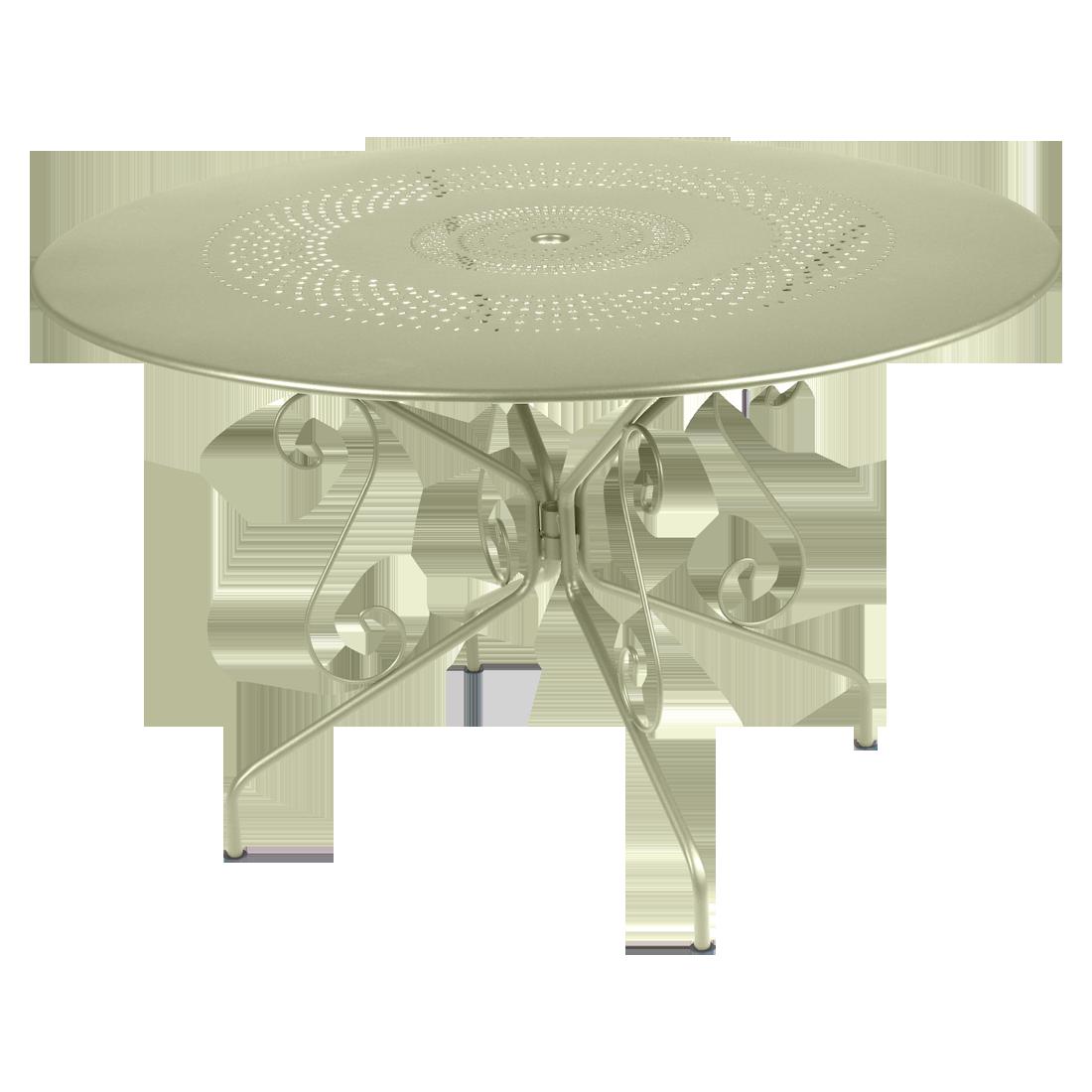 table ronde 117 cm montmartre table de jardin en m tal. Black Bedroom Furniture Sets. Home Design Ideas