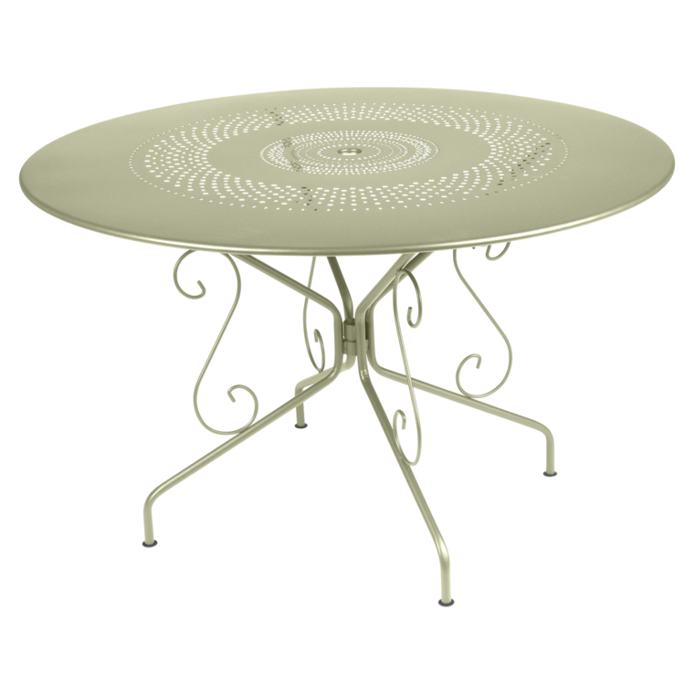 Table ronde 117 cm Montmartre, table de jardin en métal