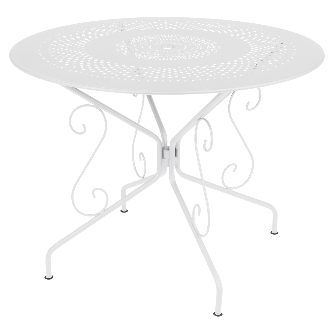 table de jardin, table metal, table ronde metal, table ronde blanche