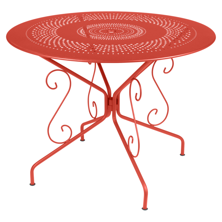 Table ronde 96 cm Montmartre, table de jardin en métal