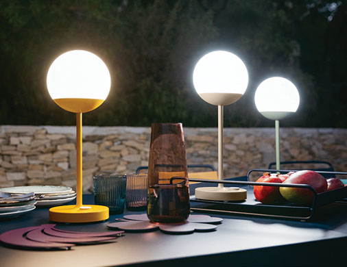 Luna Light Lampen : Mooon! collection fermob outdoor lighting wireless lamp