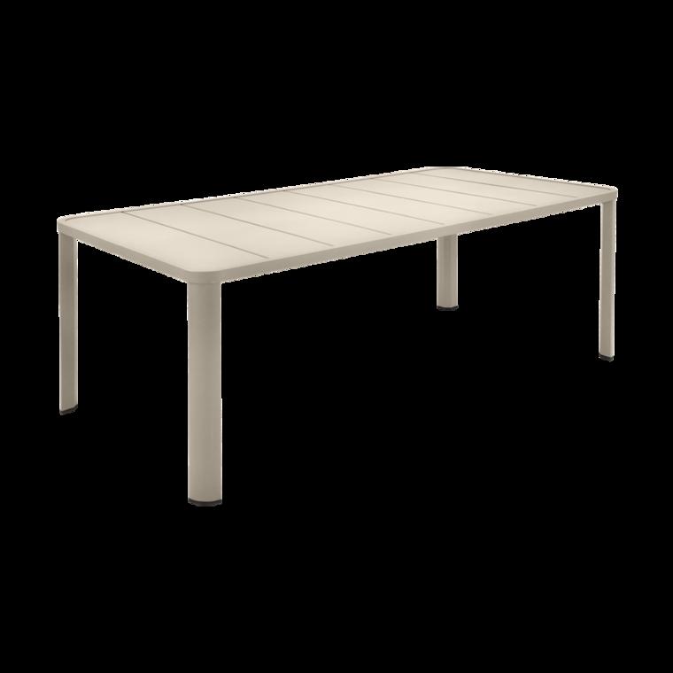 205x100 cm oléron table, garden metal table, outdoor table