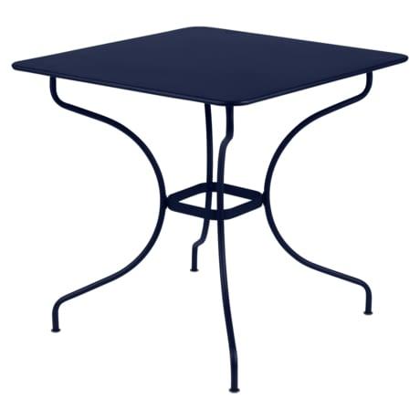 table de jardin, table metal, table bleu, table rectangulaire, table 6 personnes