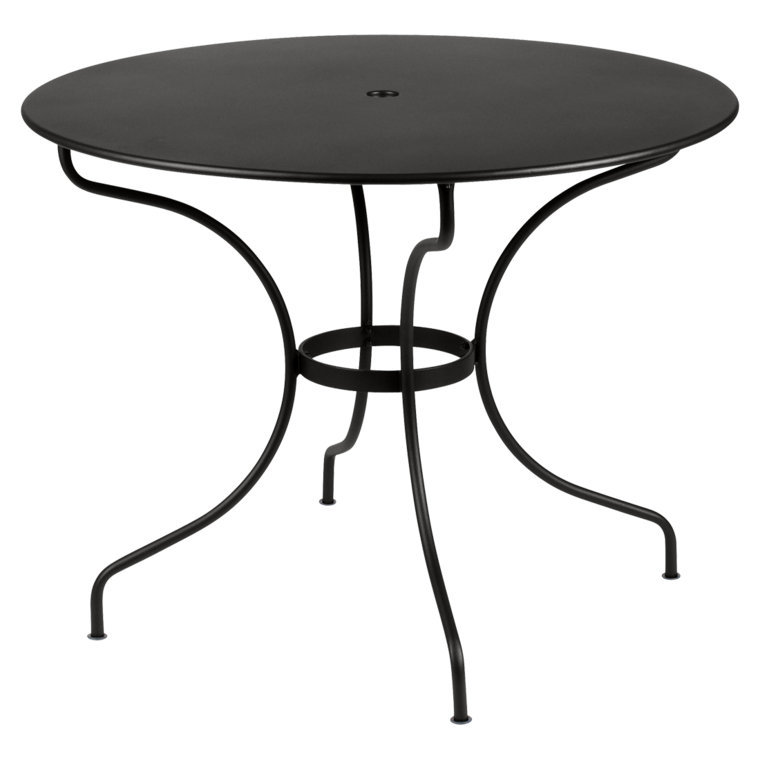 Table ronde 96 cm Opéra, table de jardin metal, table jardin 4 personnes