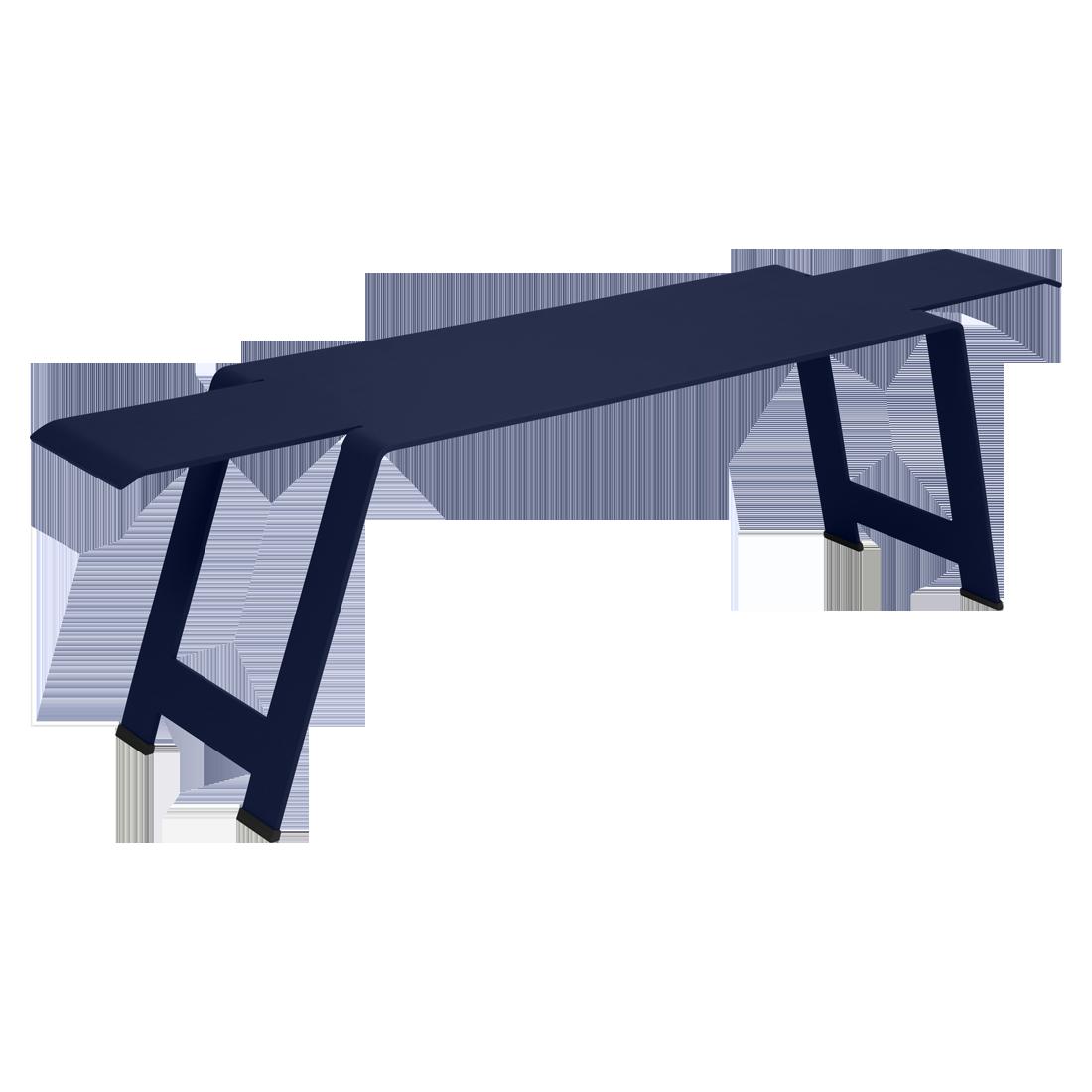 banc de jardin, banc metal, banc terrasse, banc metal bleu