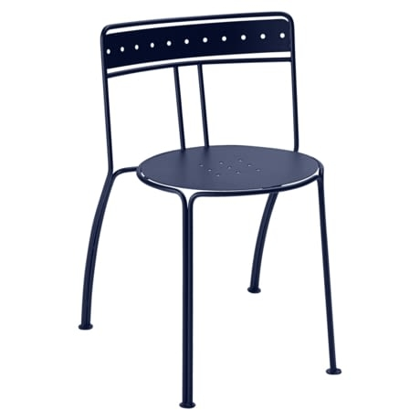 chaise metal, chaise de jardin, chaise terrasse, chaise design, chaise bleu