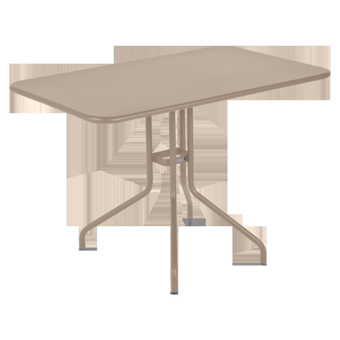 table restaurant, table terrasse, table metal, table pliante metal, mobilier restaurant, table pliante beige