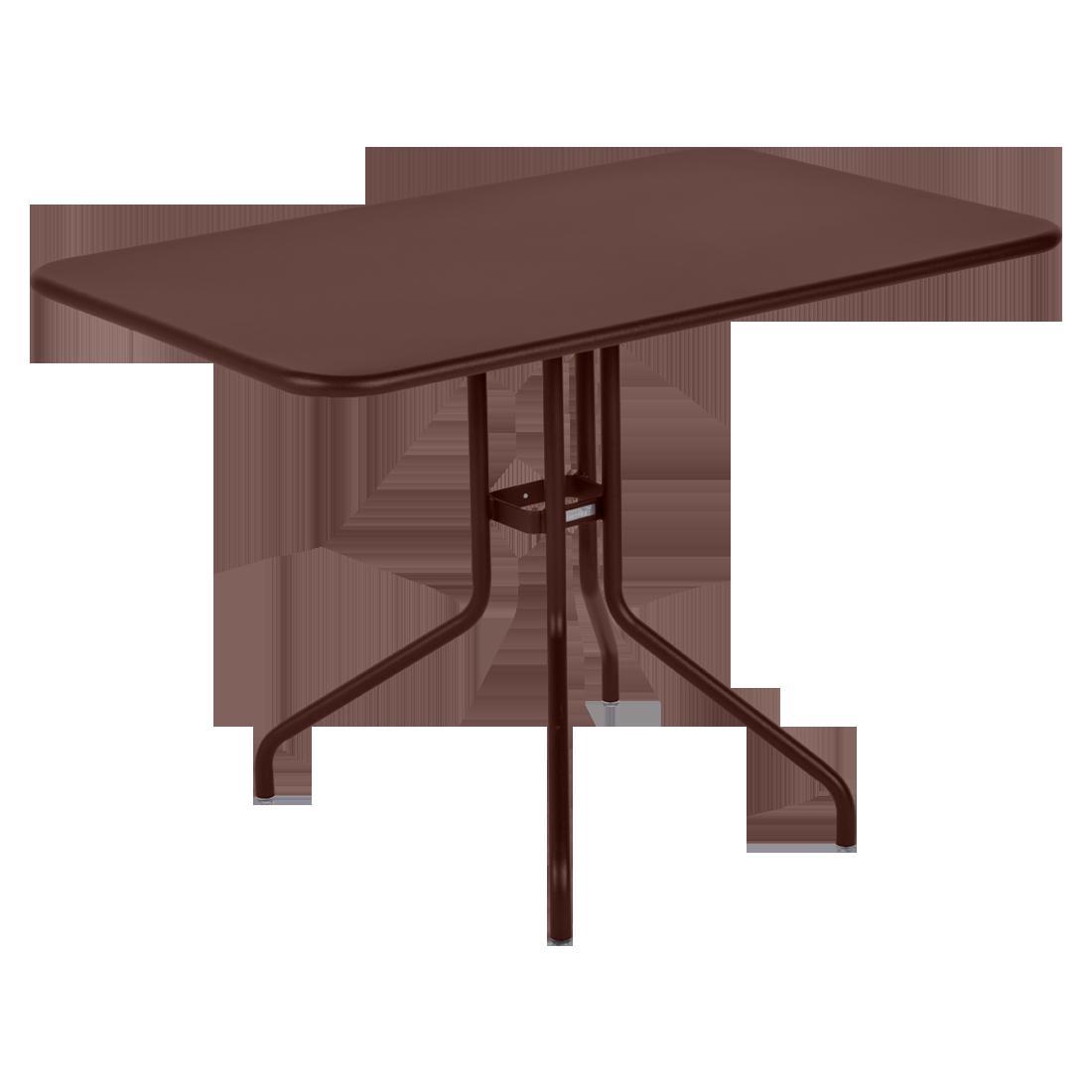 table restaurant, table terrasse, table metal, table pliante metal, mobilier restaurant, table pliante marron