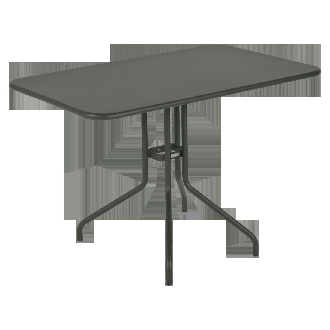 table restaurant, table terrasse, table metal, table pliante metal, mobilier restaurant, table pliante verte