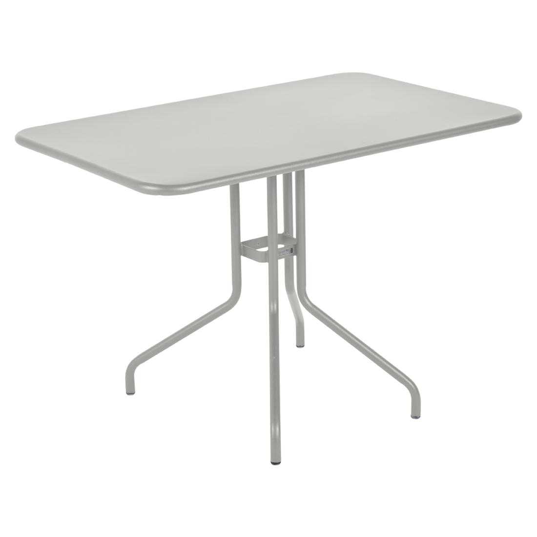 table restaurant, table terrasse, table metal, table pliante metal, mobilier restaurant, table pliante gris