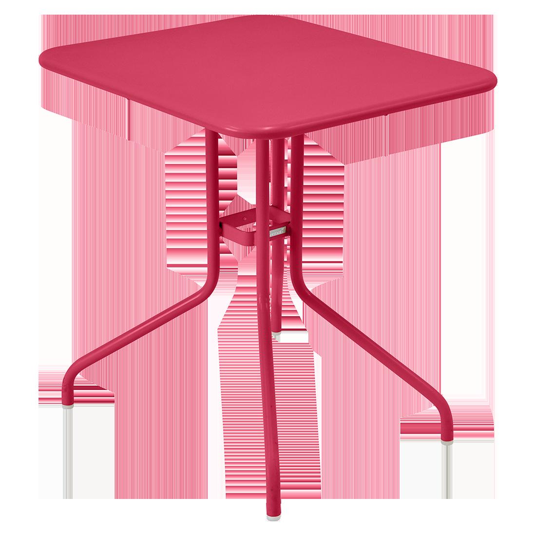 table restaurant, table terrasse, table metal, table pliante metal, mobilier restaurant, table pliante rose