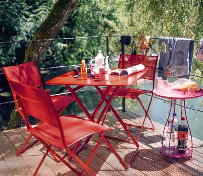 mobilier de jardin, chaise de jardin pliante, table de jardin