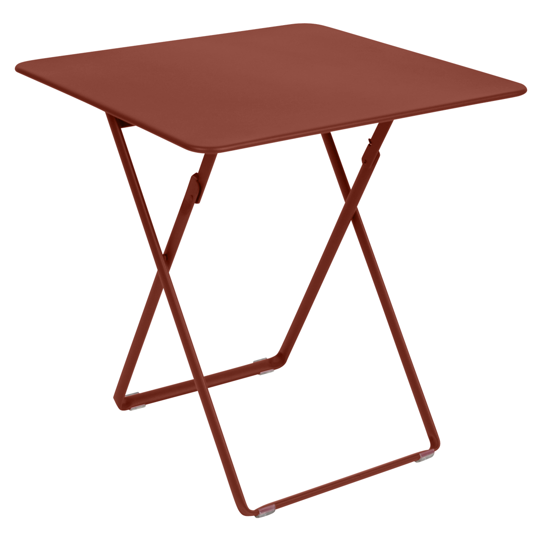 Table 71 x 71 cm plein air ocre rouge