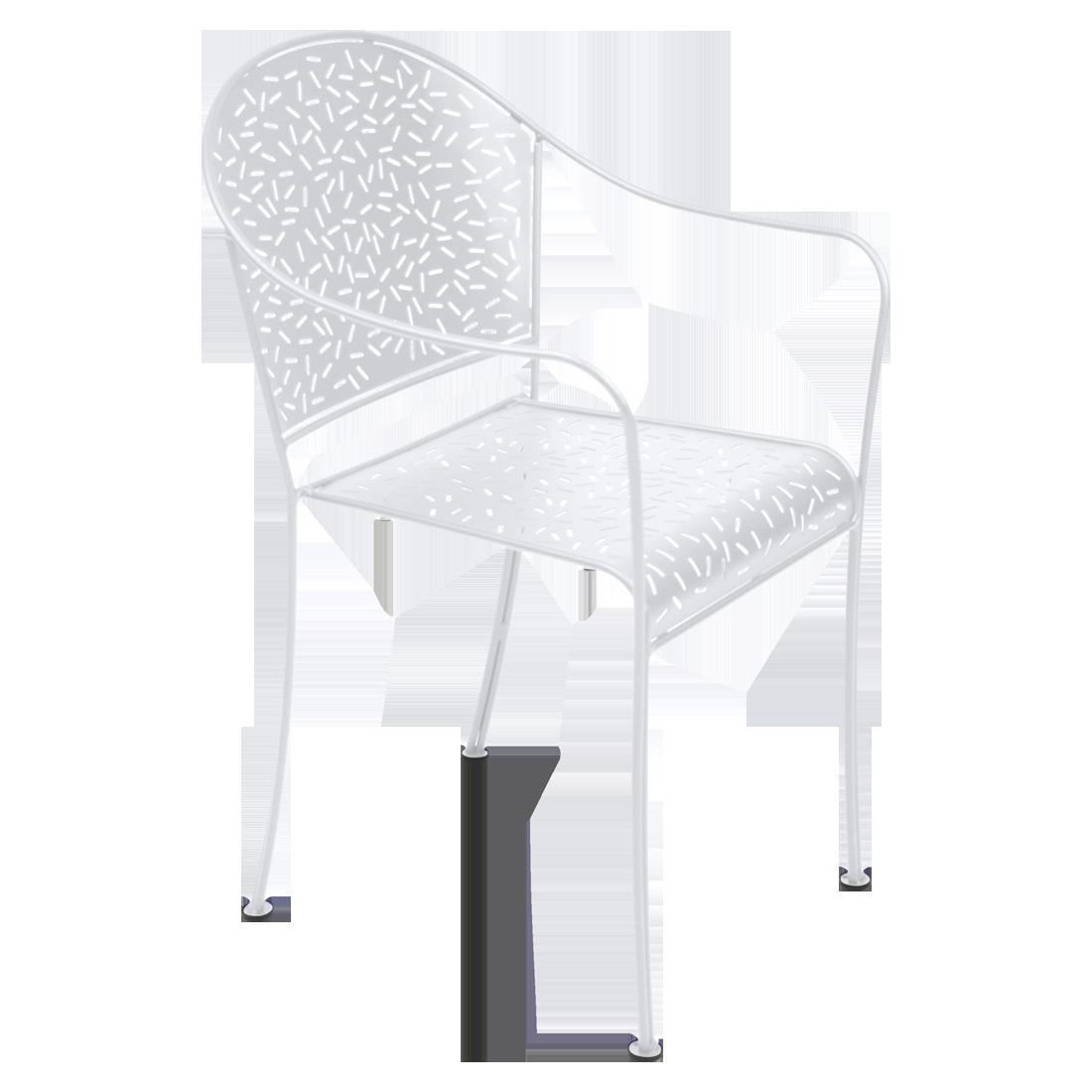 chaise de jardin, chaise metal, chaise terrasse, chaise blanche