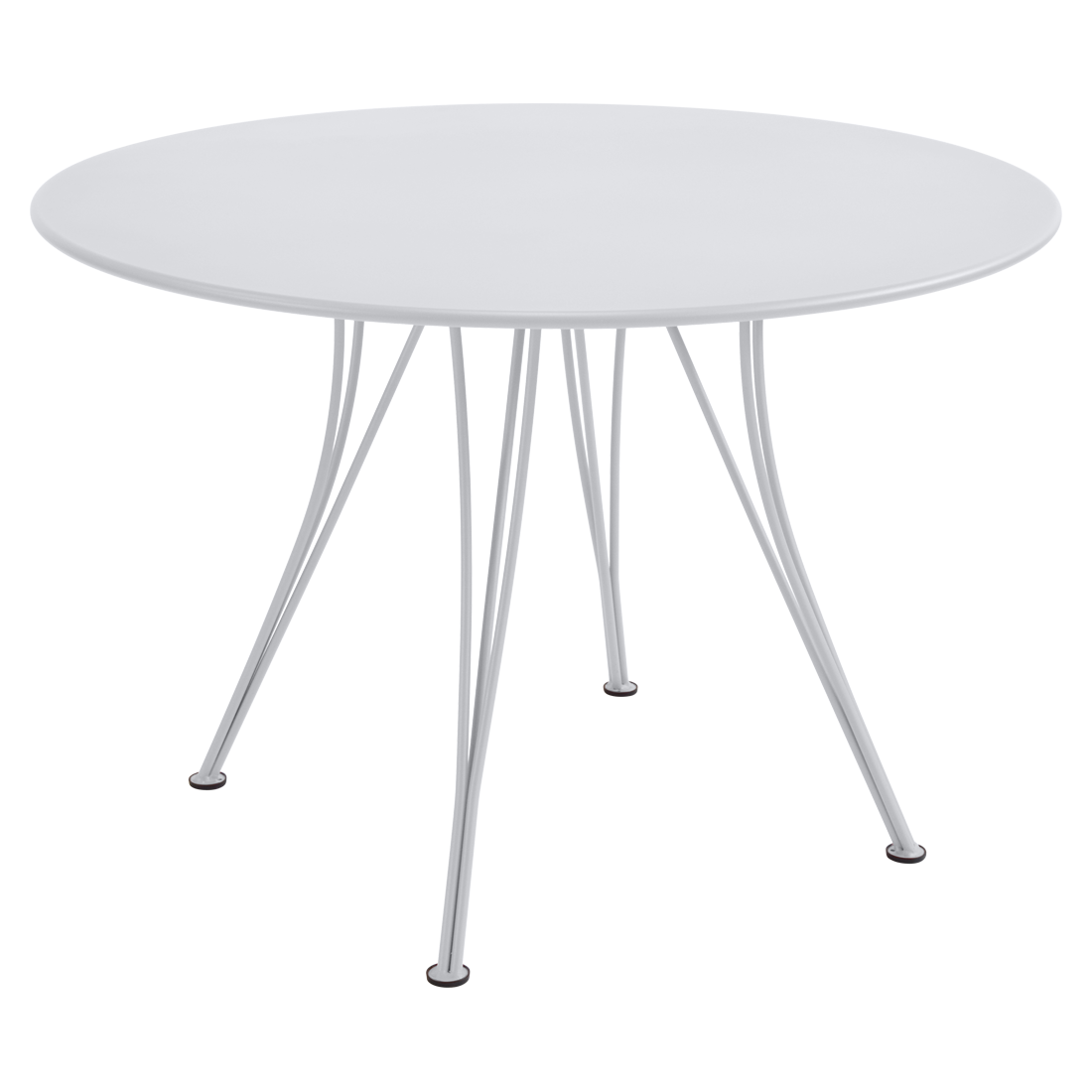 table de jardin, table metal, table ronde, table 5 personnes, table blanche
