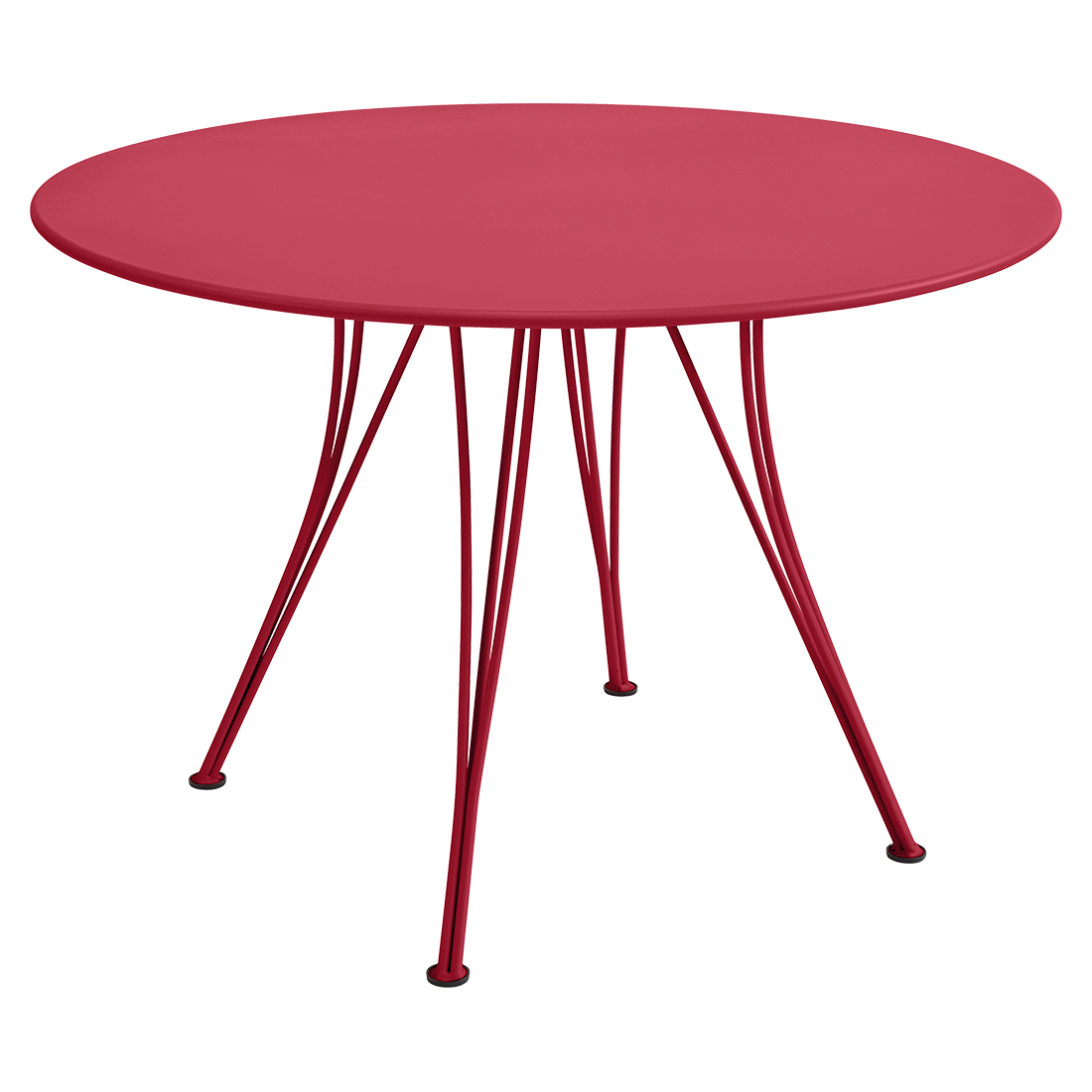 table de jardin, table metal, table ronde, table 5 personnes, table rose