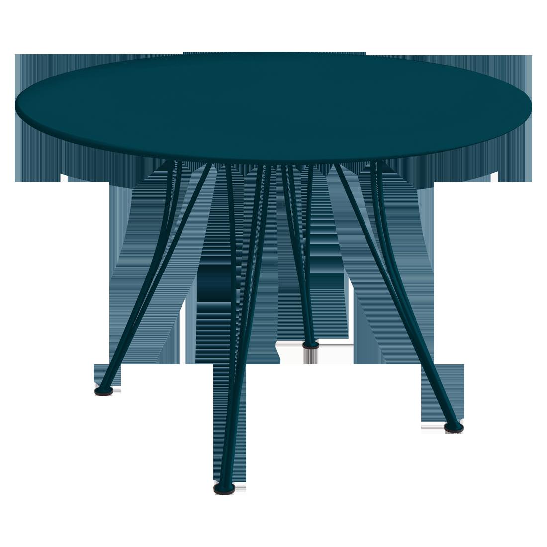Table Ø 110 cm rendez-vous bleu acapulco
