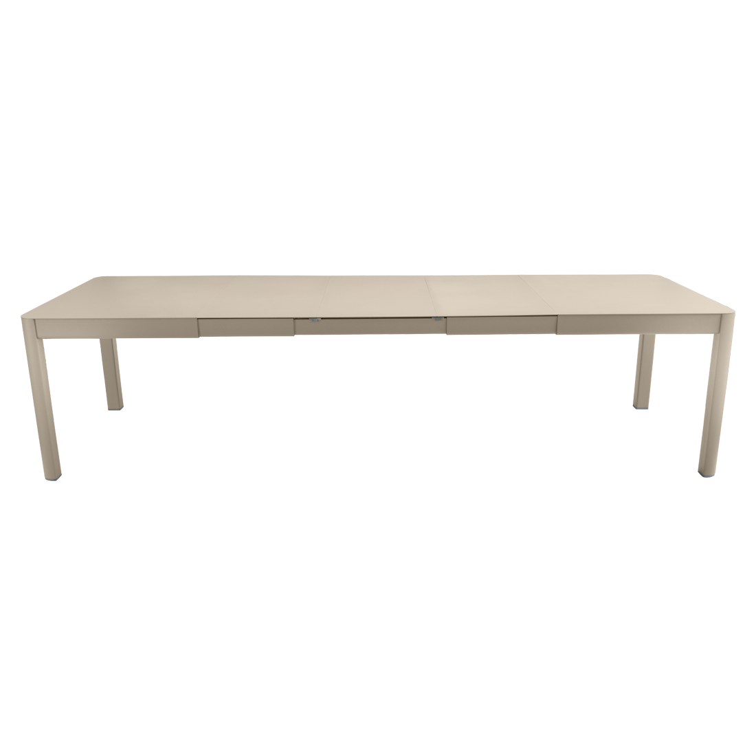 table de jardin beige, table metal allonge, table metal a rallonge, table metal rectangulaire, table fermob allonge