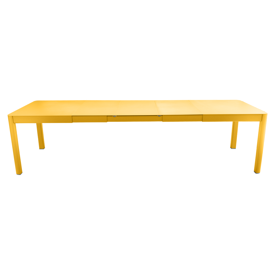 table de jardin jaune, table metal allonge, table metal a rallonge, table metal rectangulaire, table fermob allonge