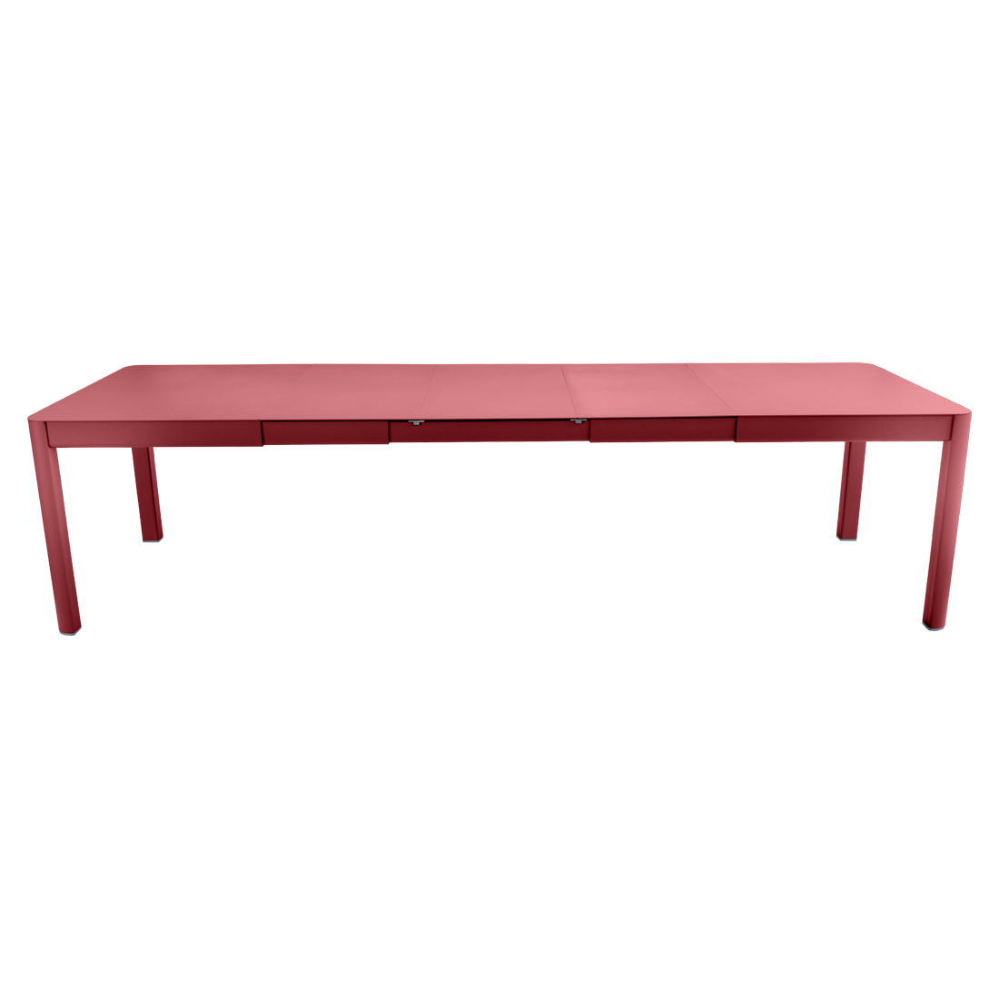 table de jardin rouge, table metal allonge, table metal a rallonge, table metal rectangulaire, table fermob allonge