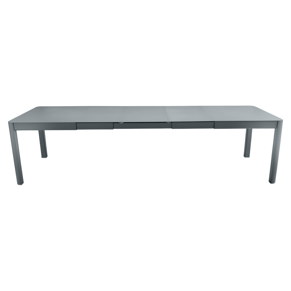 table de jardin grise, table metal allonge, table metal a rallonge, table metal rectangulaire, table fermob allonge