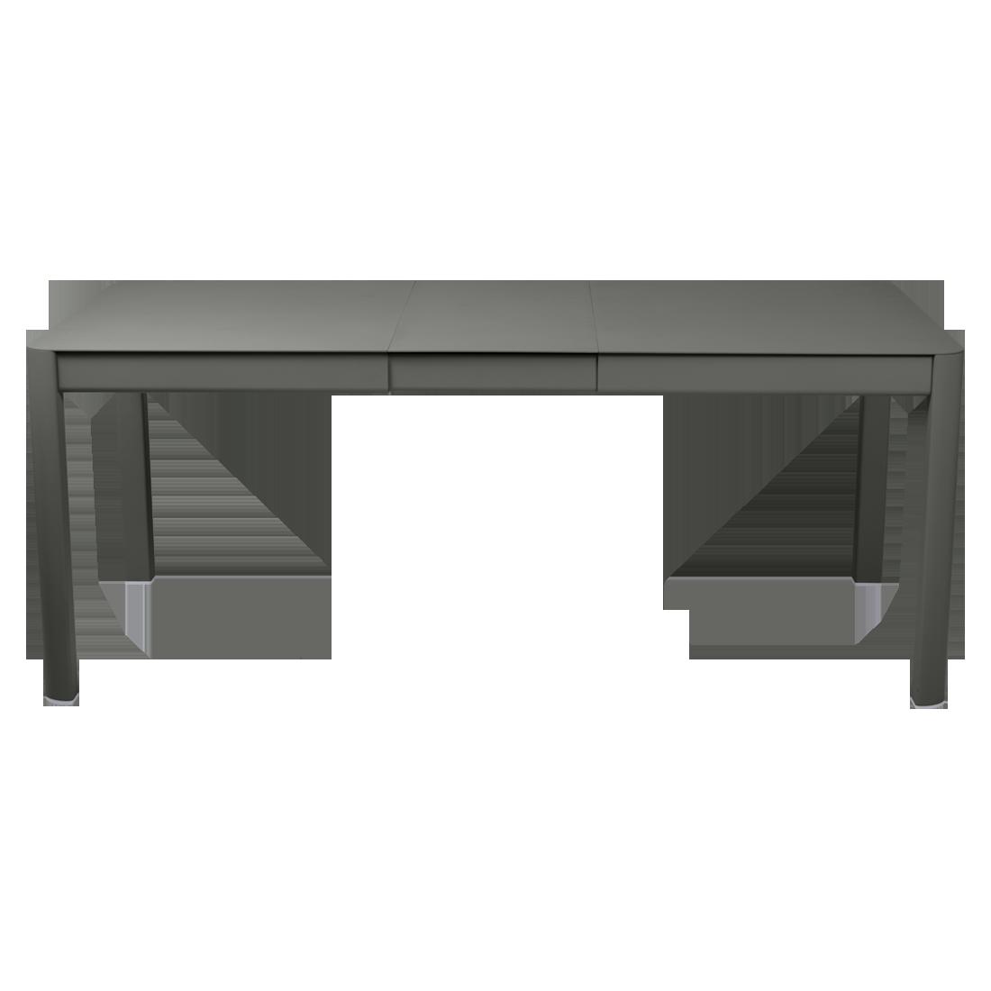 table de jardin verte, table metal allonge, table metal a rallonge, table metal rectangulaire, table fermob allonge