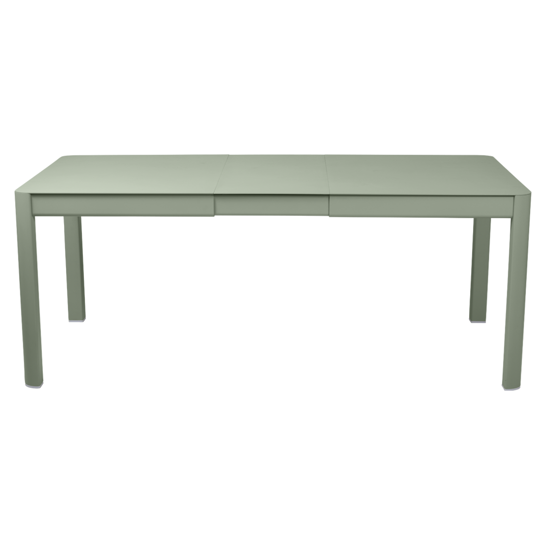 table de jardin verte, table metal allonge, table metal a rallonge, table metal rectangulaire, table fermob allonge
