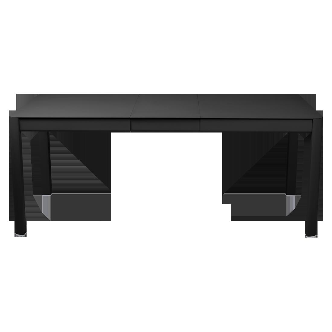 table de jardin noir, table metal allonge, table metal a rallonge, table metal rectangulaire, table fermob allonge
