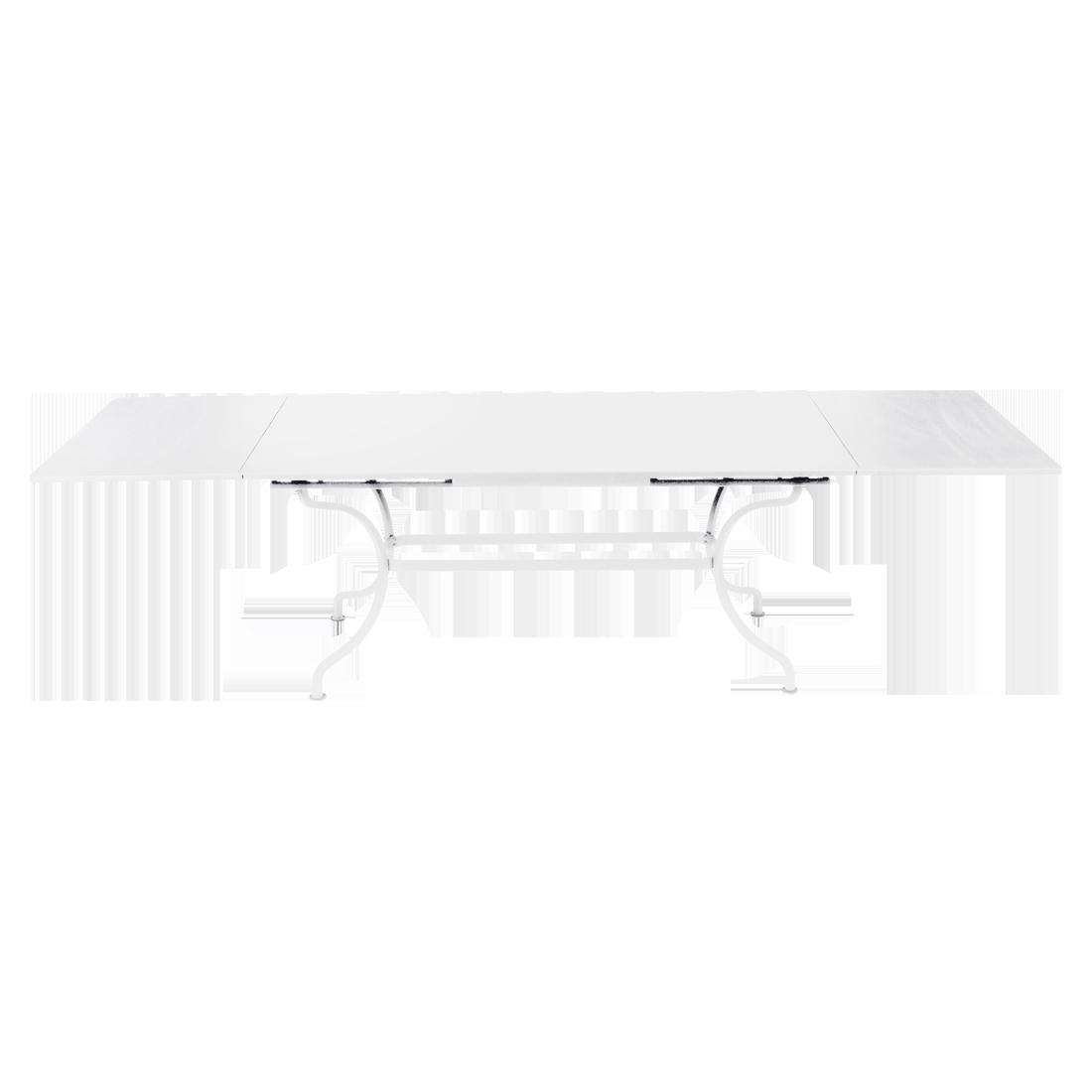 table de jardin a allonge, table metal rallonge, grande table rectangulaire, grande table blanche