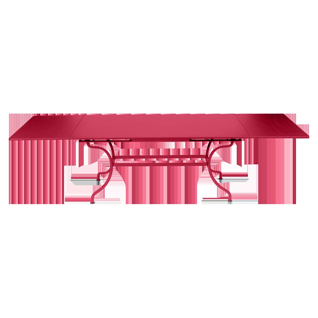 table de jardin a allonge, table metal rallonge, grande table rectangulaire, grande table rose