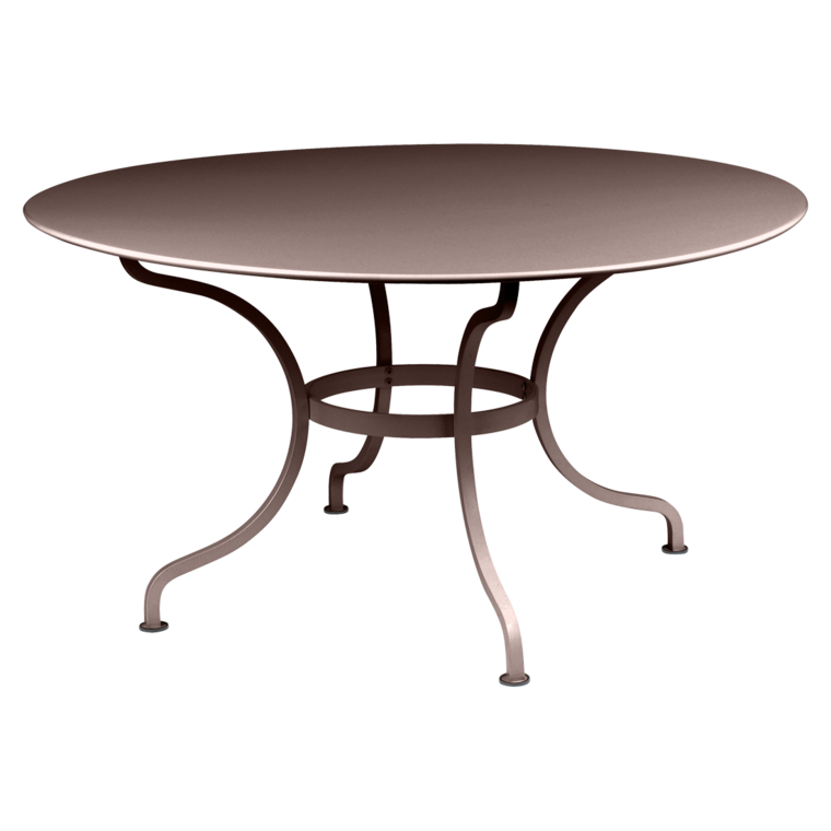 Table ronde 137 cm Romane, table de jardin, mobilier de jardin