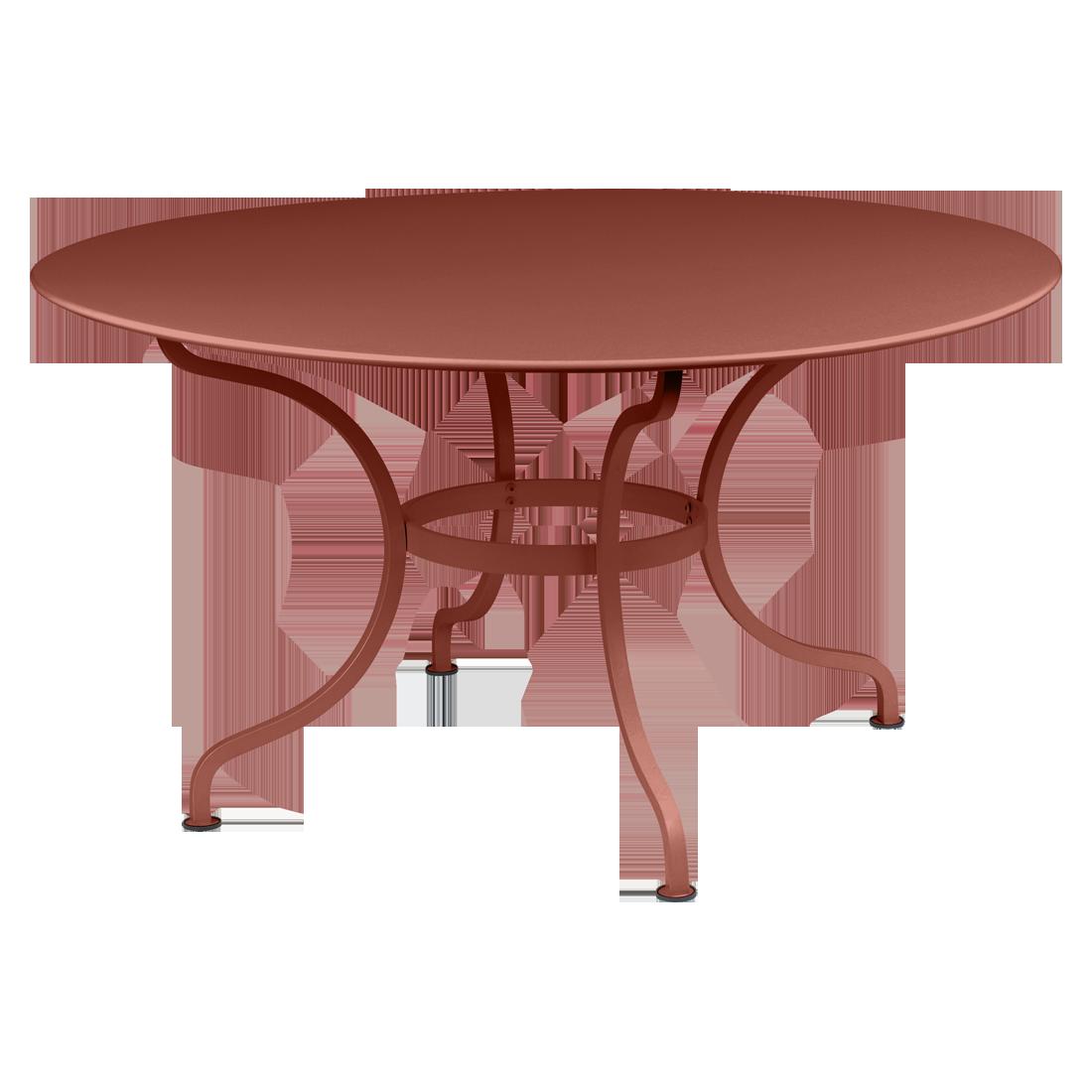 Table Ø 137 cm romane ocre rouge