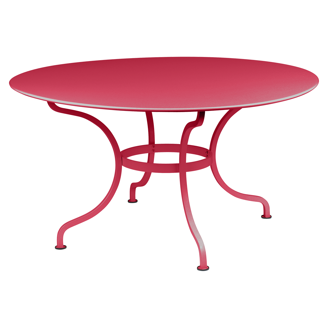 table de jardin, table metal, table ronde metal, table ronde rose