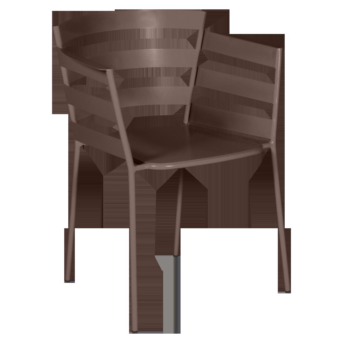 chaise metal design, chaise design, fauteuil de jardin, chaise metal, chaise fermob, fauteuil marron