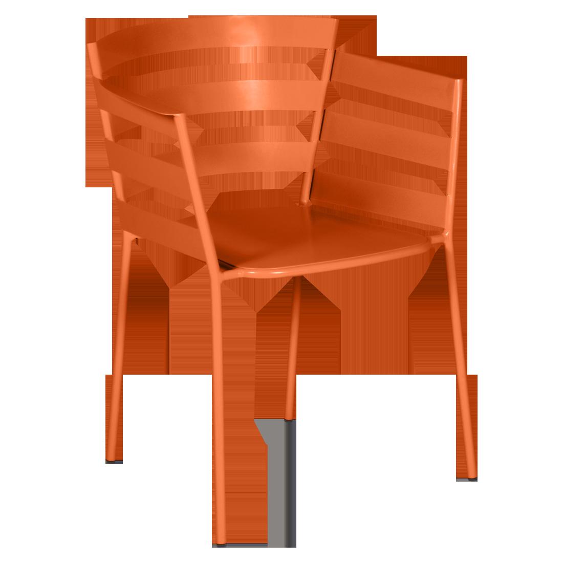 chaise metal design, chaise design, fauteuil de jardin, chaise metal, chaise fermob, fauteuil orange
