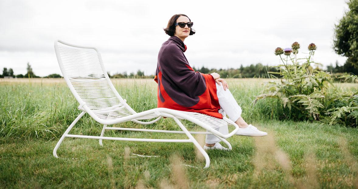 salon de jardin, chaise longue